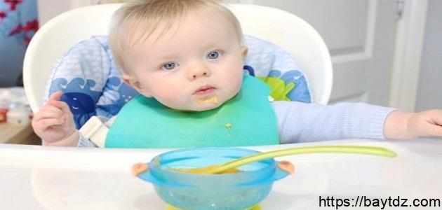 تغذية الطفل في الشهر التاسع