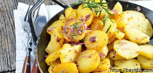 طرق عمل البطاطس