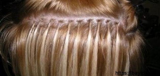 عمل خصلات الشعر