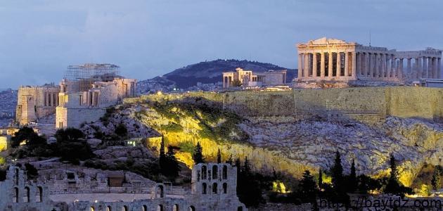 أثر تاريخي بمدينة أثينا