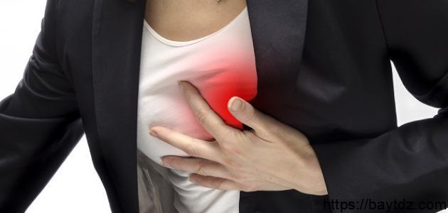 أعراض الذبحة الصدرية عند النساء