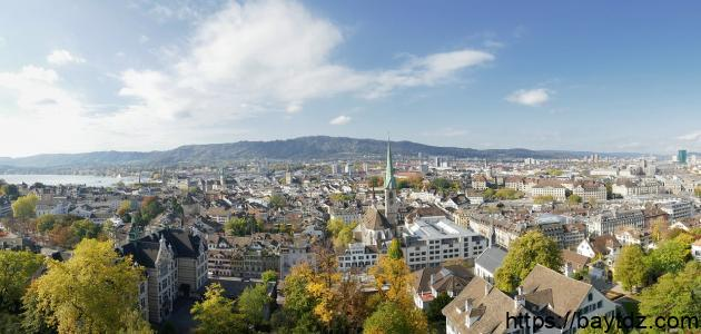 أكبر مدينة من حيث سكان في سويسرا