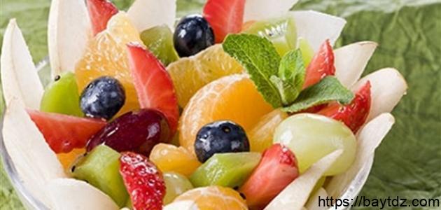 أنواع سلطات الفواكه
