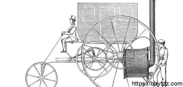 أول من صنع عربة بخارية