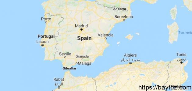 أين تقع إسبانيا