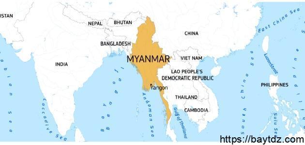 أين تقع بورما جغرافيا