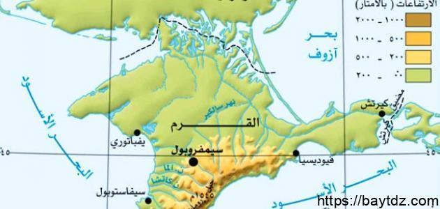 أين تقع جزيرة القرم