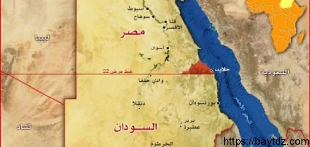 أين تقع حلاليب وشلاتين على الخريطة