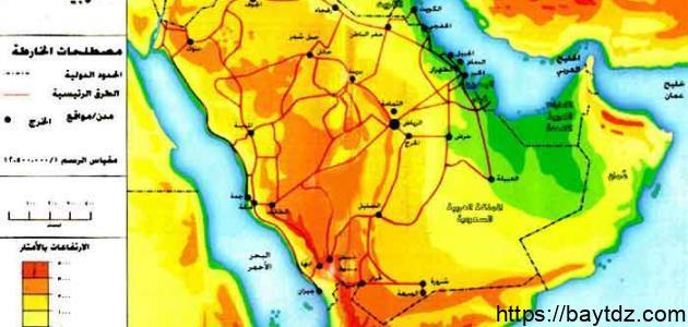 أين تقع شبه الجزيرة العربية ولماذا سميت بهذا الاسم