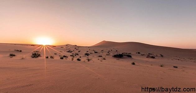 أين تقع صحراء النفوذ