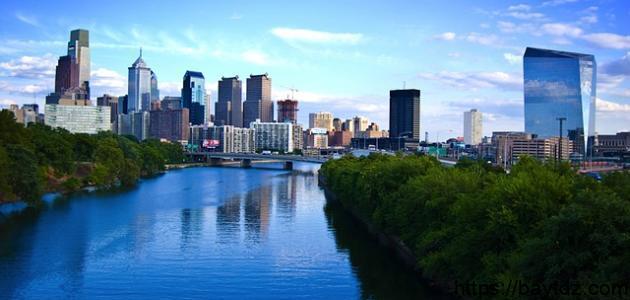 أين تقع مدينة فيلادلفيا