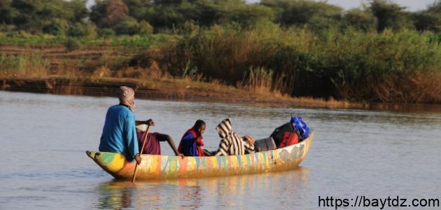 أين يصب نهر السنغال