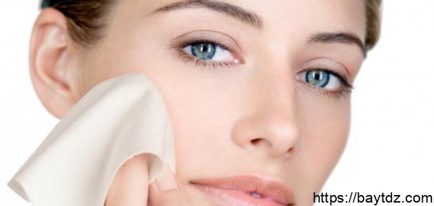 التخلص من قشرة الوجه