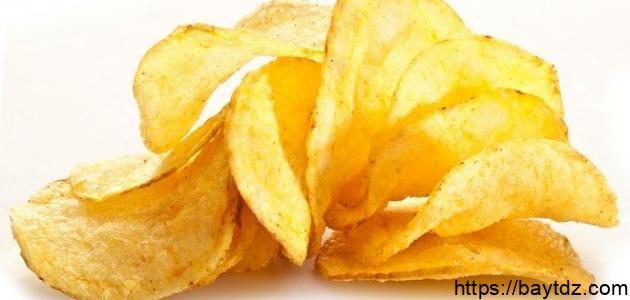 تحضير رقائق البطاطس