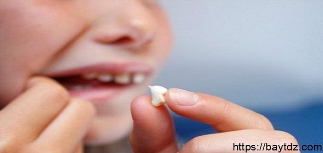 تساقط الاسنان في الحلم