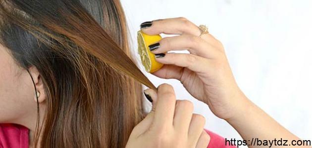 تلوين الشعر بطرق طبيعية