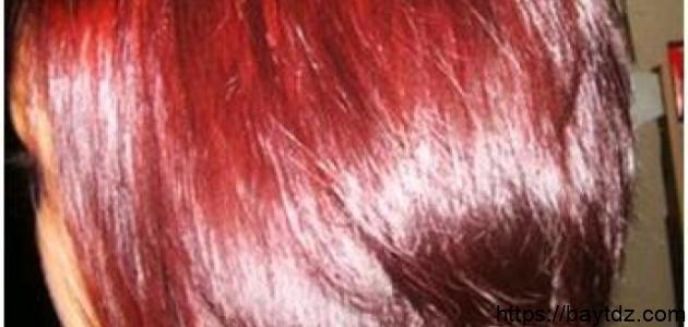 حناء الشعر بالكركديه