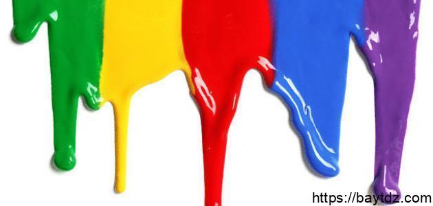 صفات الألوان في اللغة العربية