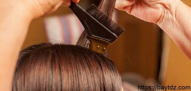صناعة صبغة الشعر منزلياً