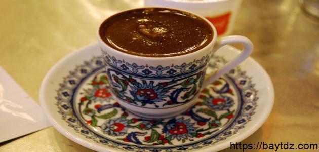 صنع القهوة التركية