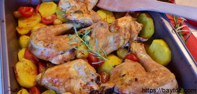 طبق دجاج بالبطاطس
