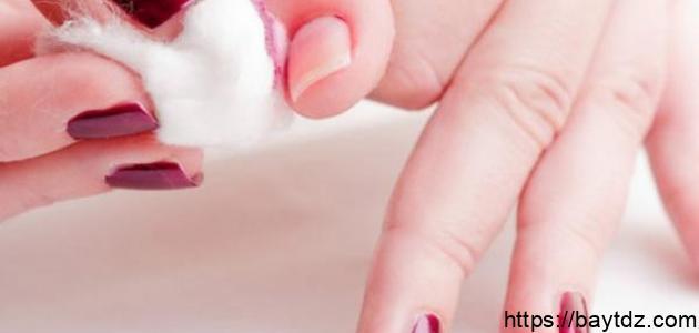 طرق إزالة طلاء الأظافر