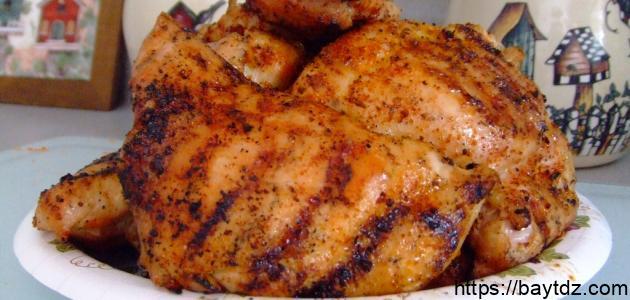 طرق الدجاج المشوي