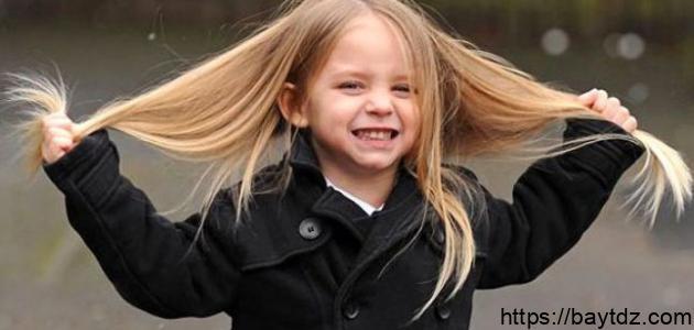 طرق تطويل الشعر عند الأطفال