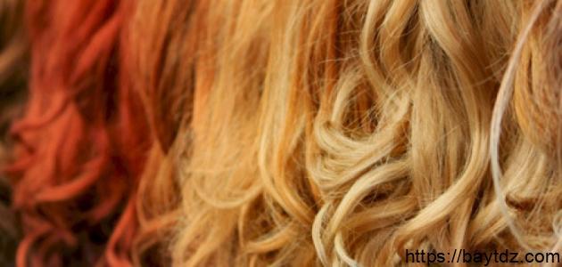 طرق مزج صبغات الشعر