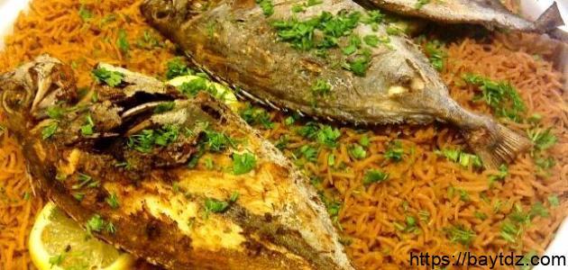 طريقة أرز السمك