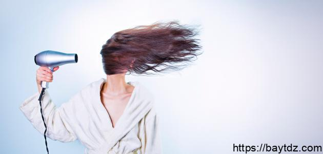 طريقة استعمال مجفف الشعر