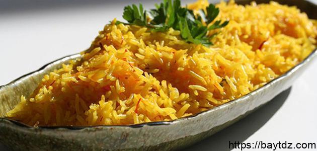 طريقة الأرز البسمتي بالكاري