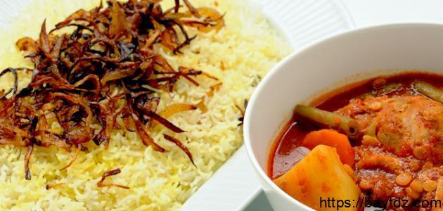 طريقة الأرز المشخول بالدجاج
