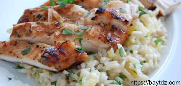 طريقة الأرز بالدجاج