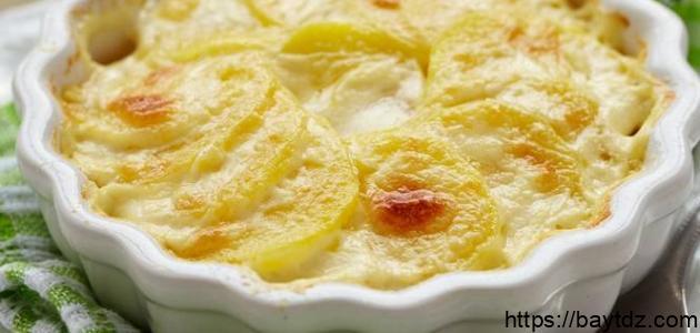 طريقة البطاطس بالبشاميل