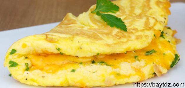 طريقة البيض بالجبن
