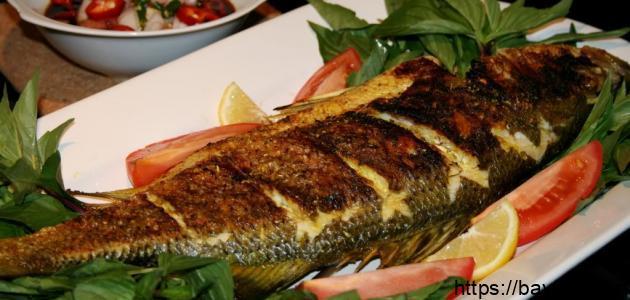 طريقة السمك المشوي في الفرن