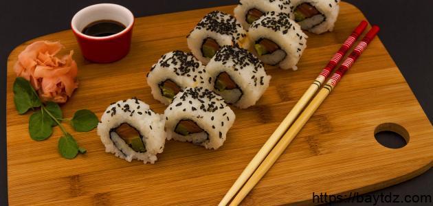 طريقة تحضير السوشي الياباني