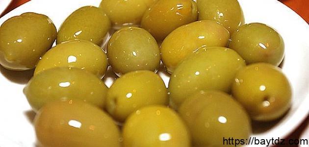 طريقة تخزين الزيتون الأخضر