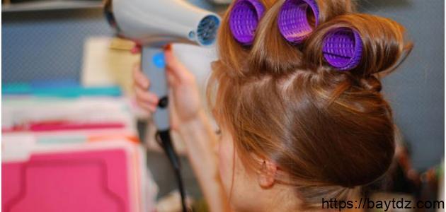 طريقة تصفيف الشعر