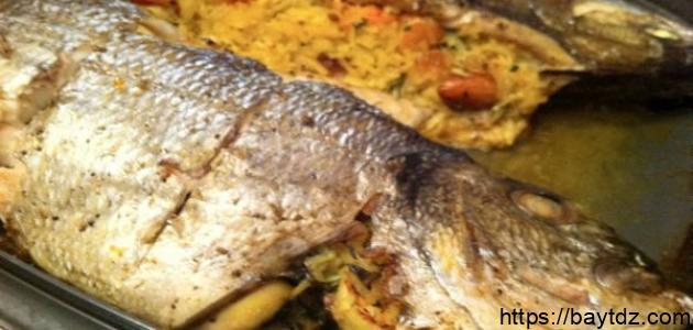 طريقة حشو السمك المشوي