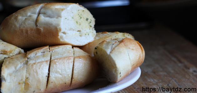 طريقة خبز الثوم