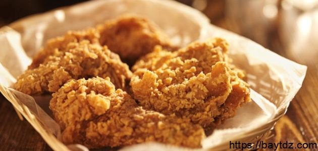 طريقة دجاج البروستد