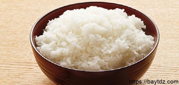 طريقة سلق الأرز المصري