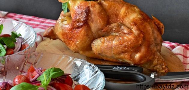 طريقة شوي الدجاج على الفحم بالقصدير