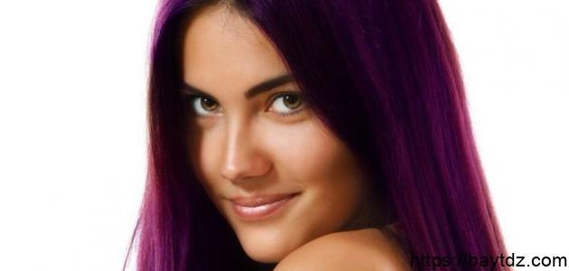 طريقة صبغ الشعر باللون البنفسجي
