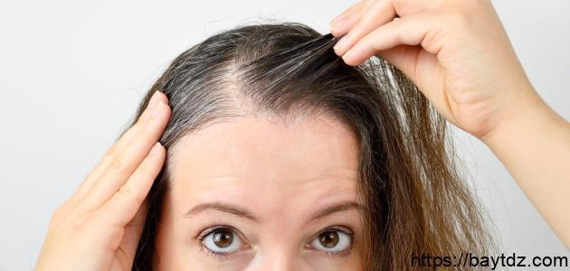 طريقة صبغ جذور الشعر الأبيض