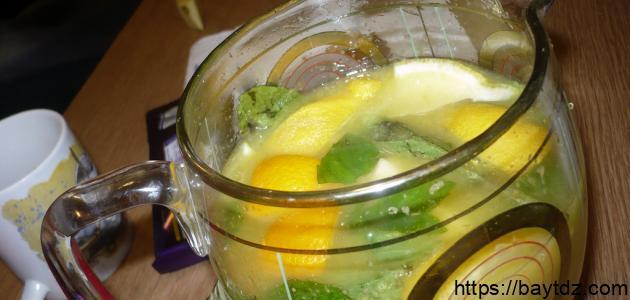طريقة صنع عصير ليمون بالنعناع