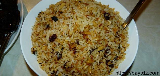 طريقة عمل أرز بسمتي بالزبيب