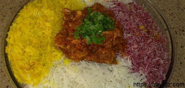 طريقة عمل أرز ملون